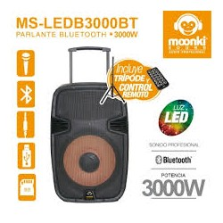 BAFLE PORTATIL MOONKI SOUND MS-LEDB3000BT